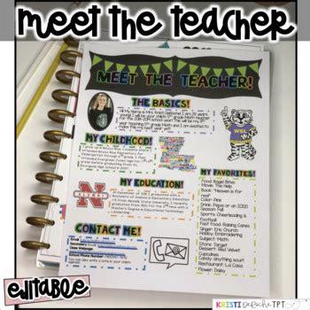 Meet The Teacher Newsletter Editable By Kristi Deroche Tpt Meet The Newsletter Templates