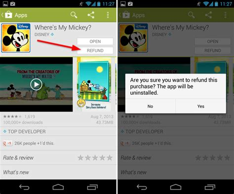 how to get refund from play store 4 ways