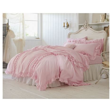 pink shabby chic bedding ruffle bedding collection simply shabby chic target