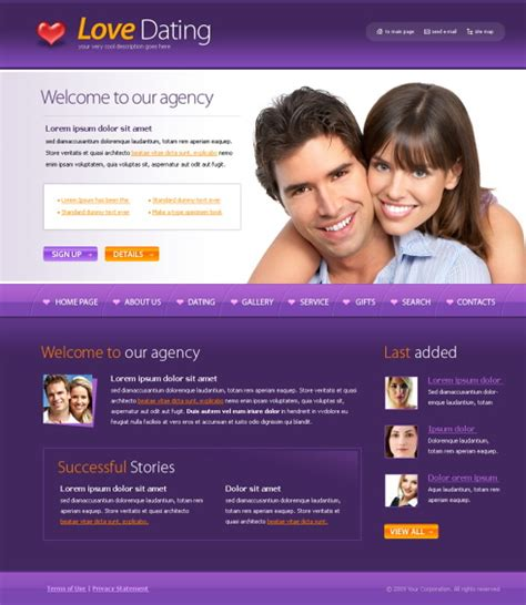 Dating Deluxe Webpage Template 4357 Love Dating Website Templates Dreamtemplate Dating Website Template