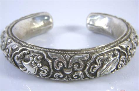 Silver Handmade Bracelets - handmade tibetan babao symbol bracelet sterling silver