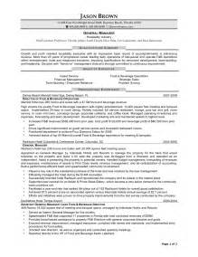 manager resume sle cv restaurant