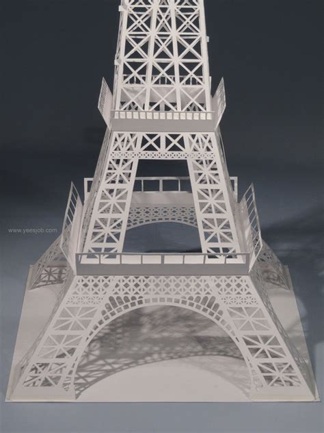 eiffel tower pop up card template pdf the eiffel tower
