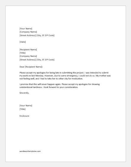 work apology letter exle apology letter for late of project word