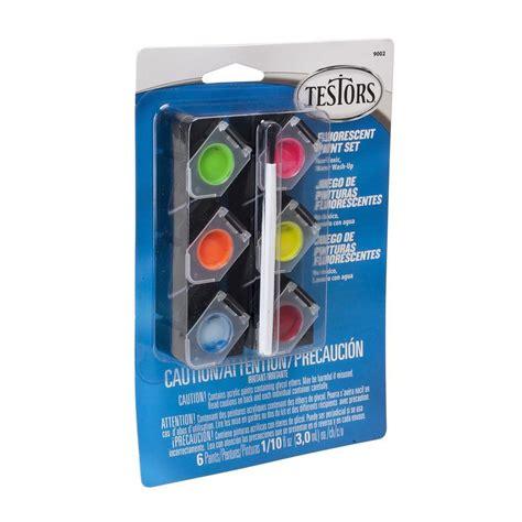 testors 0 10 oz 6 color acrylic paint pod set fluorescent colors 4 pack 9002 the home depot