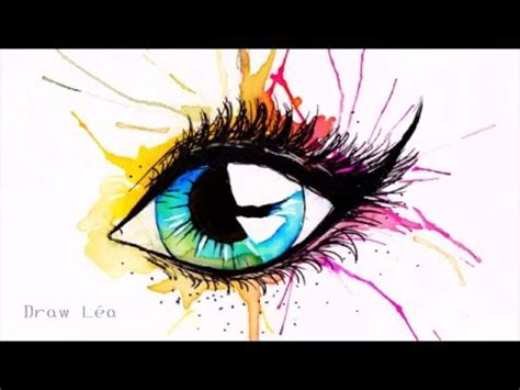 dessin oeil aquarelle youtube