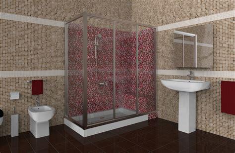 doccia con mosaico progetto trasformazione di vasca in doccia idee