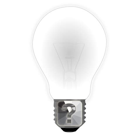 free illustration question bulb idea question mark