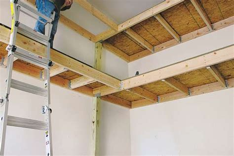 How To Build A Hanging Shelf In Garage by 20 Diy Garage Shelving Ideas Guide Patterns