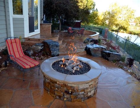magnificent patio with fire pit design ideas patio