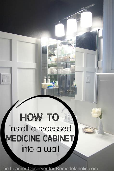 how to install a recessed medicine remodelaholic how to install a recessed medicine