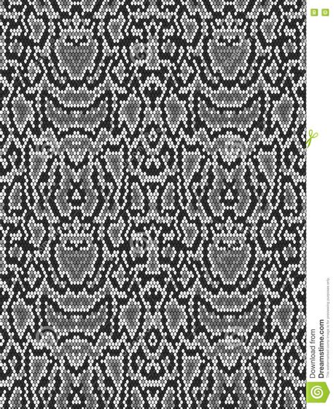 design pattern with python snake python skin texture seamless pattern black on white