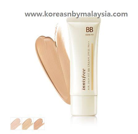 Innisfree Bb Air Skin Fit Spf 35pa 40ml innisfree air skin fit bb best korea bb malaysia