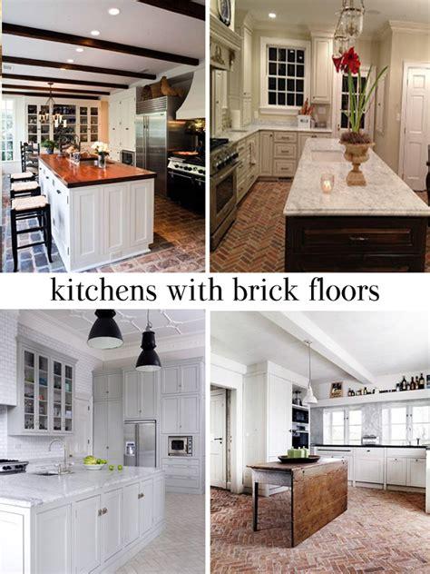 Brick Tile Kitchen Backsplash meet me in philadelphia the appeal of a brick floor