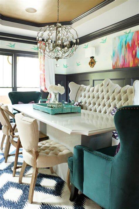 Dining Room With Teal Rug 1000 Ideas About Dining Room Paneling On