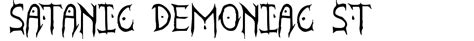 rubber st font generator satanic demoniac st font