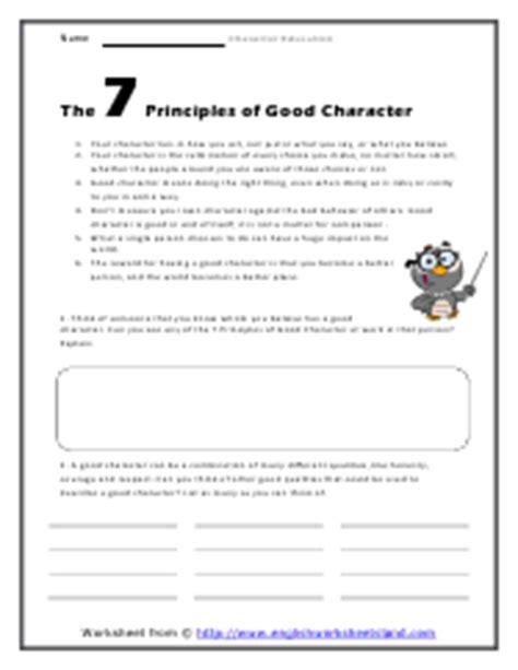 6 Pillars Of Character Worksheets by Six Pillars Of Character Worksheets Worksheets