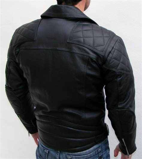 Mens Leather Quilted Bomber Jacket by Mens Bomber Leather Jacket Mens Black Quilted Leather