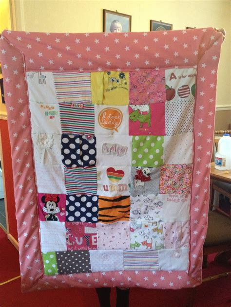 Patchwork Quilt Out Of Baby Clothes - patchwork memory quilt made out of baby clothes