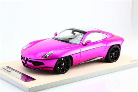 alfa romeo disco volante scale model tecnomodel scale 1 18 alfa romeo disco volante touring superleggera 2014 pink version
