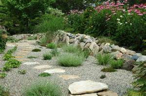 Garden Gravel Stones Gravel Garden And Grasses