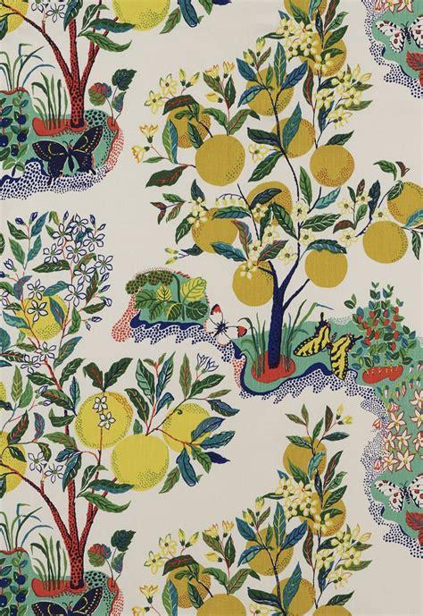 schumacher fabric fabric citrus garden in primary schumacher my board pinterest gardens color stories