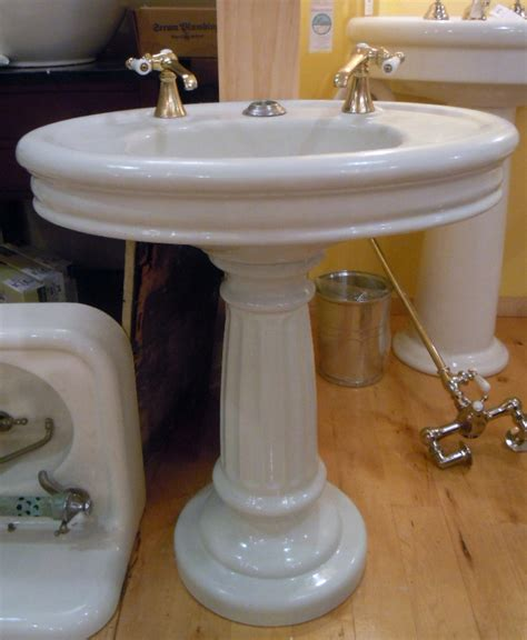 Cast Iron Pedestal Sink by Antique Cast Iron Oval Pedestal Sink With Fluted Base