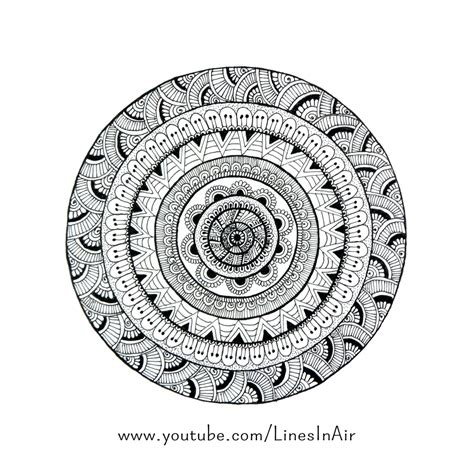 circle pattern drawings tumblr mandala doodle by linesinair on deviantart
