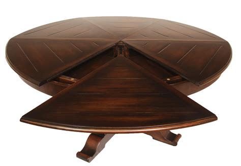 Round Expanding Dining Table | large 64 to 84 round to round country expandable jupe table