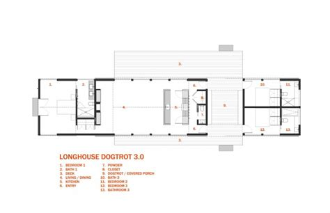 dogtrot house plans longhouse dogtrot floor plan 3 bedroom architect