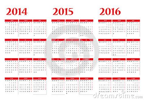 Calendario Turco Kalender 2014 2015 2016 Royalty Vrije Stock Foto S Beeld