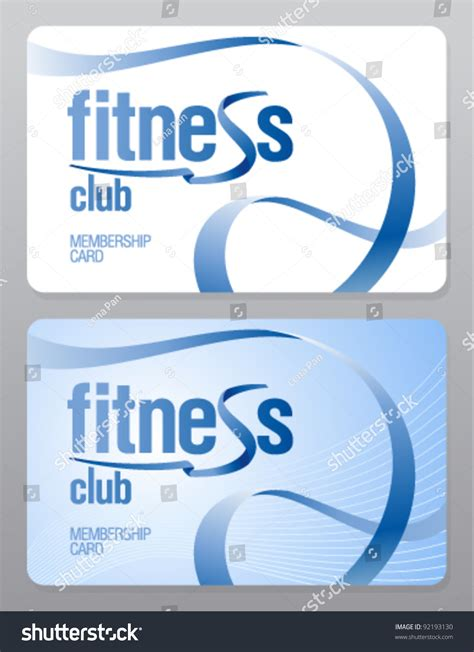 savings club card template fitness club membership card design template stock vector
