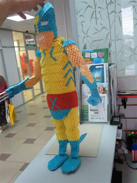 wolverine 3d origami by eretik89 on deviantart