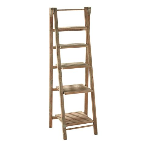 Wooden Shelf Ladders by Wooden Ladder Shelf Unit W 46cm Freeport Maisons Du Monde
