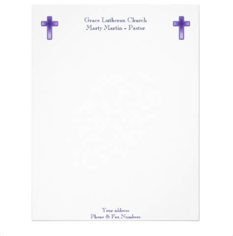 christian letterhead templates free free church letterhead