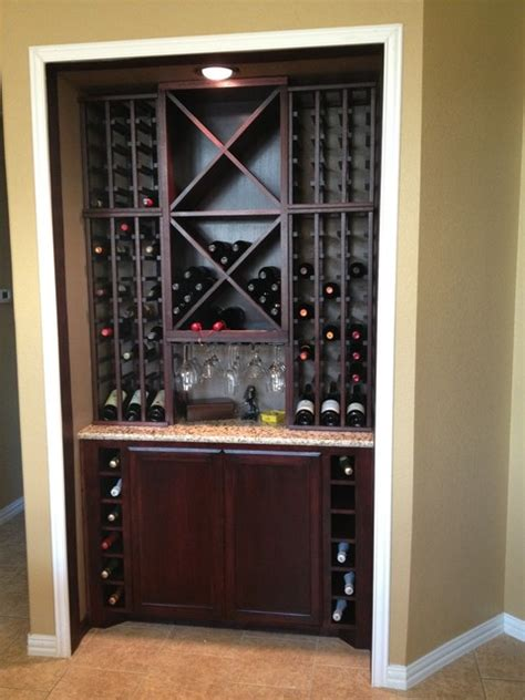Wine Storage Kitchen Cabinet Custom Kitchen Wine Cabinet Modern Wine Cellar Dallas By Wineracks