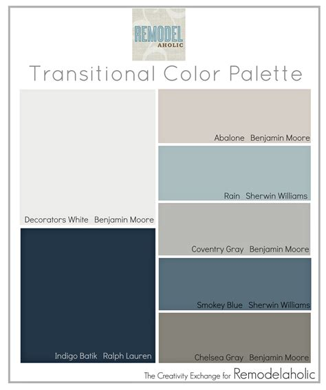 Color Palette For Home Interiors Remodelaholic Transitional Paint Color Palette
