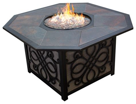 Table Top Gas Pit Agio Vista Alumicast Sling Gas Pit Table With