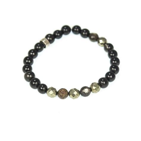 Handmade Bracelets For Guys - s pyrite and horn beaded bracelet niyama jewelry by