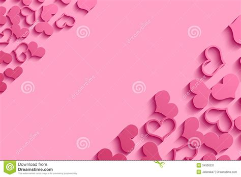 pink valentines day pink hearts stock image image 34530531