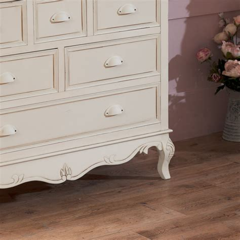 Cream 6 Drawer Chest French Country Shabby Vintage Chic Bedroom Furniture Doncaster