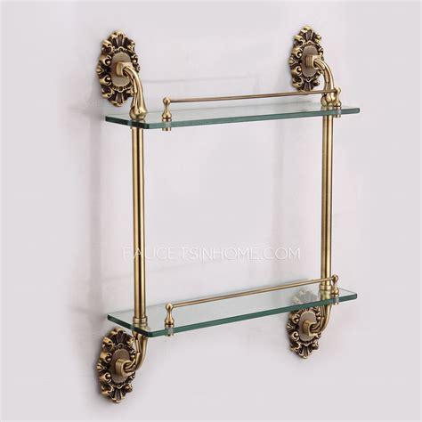 bronze bathroom shelves antique bronze glass bathroom shelves