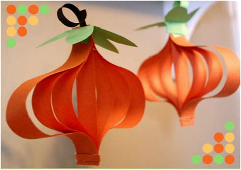 Paper Pumpkin Crafts - diwali crafts for children on diwali diwali