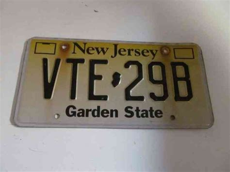 Garden State Auto New Jersey Car Auto License Plate Vte 29b Official