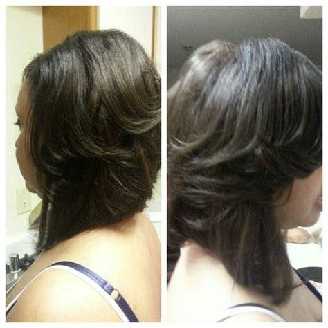 sew in layered bob hairstyles semi layered bob sew in hair