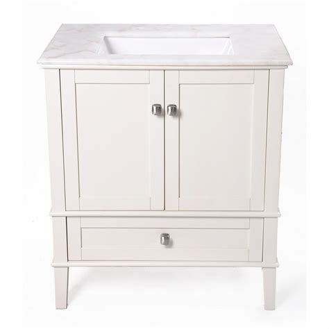 Marble Top Bathroom Vanity by Simpli Home 30 Quot Chelsea Bathroom Vanity With Marble Top And Sink 225992 Bath At Sportsman S