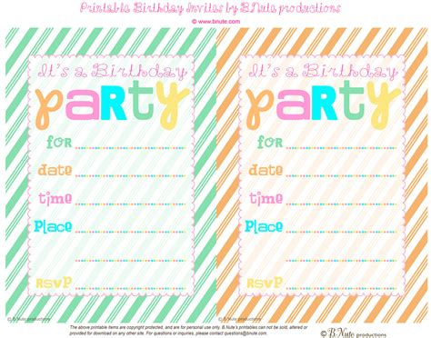 Blank Free Printable Birthday Invitations For Boys