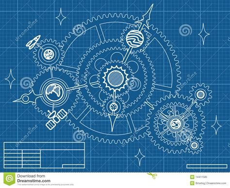 blueprint vector stock photo image 9031930 blueprint of space mechanic stock vector illustration of