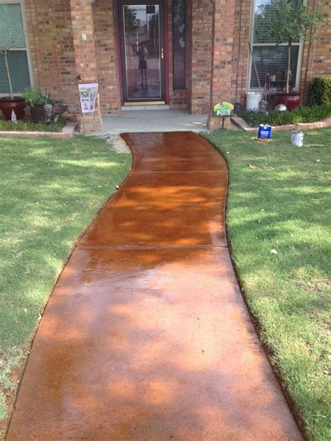 stained concrete walkway stained scored concrete