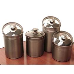 brown canister sets kitchen kamenstein brushed bronze 4 kitchen canister set